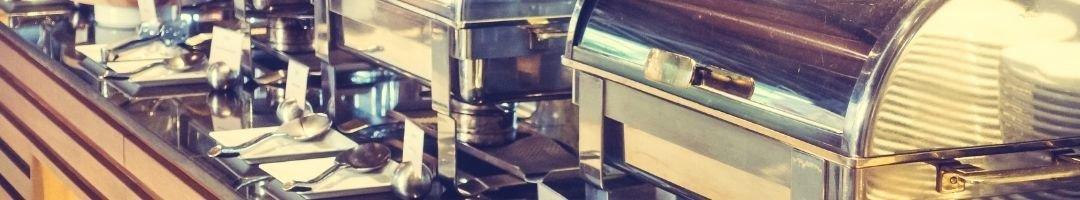 Chafing Dishes mit Löffel und Brennpasten