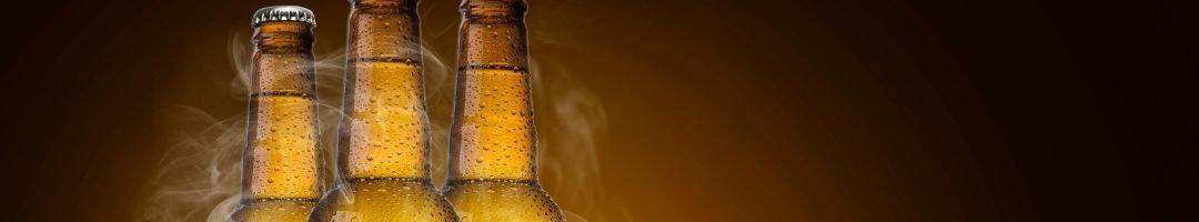 Gekühlte Bierflaschen