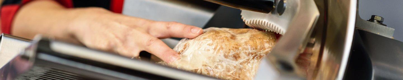 Brot ein einer Schneidemaschine