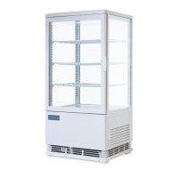Polar Kühlvitrine mit gebogener Tür 86 liter