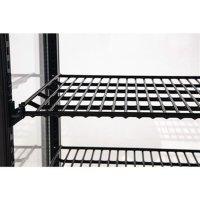 Polar Kühlvitrine schwarz Tischmodell 70 l