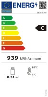 Polar Kühlvitrine weiß Tischmodel 68 l