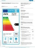 SARO Bäckerei Kühlschrank - Rostmaß B 800 TN