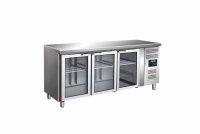 SARO Kühltisch mit 3 Glastüren Modell GN 3100 TNG
