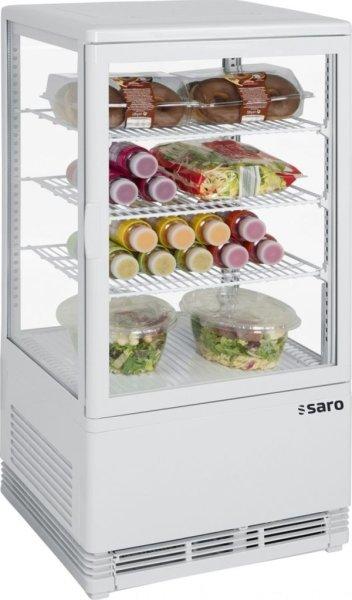 SARO Mini-Umluftkühlvitrine Modell SC 70 weiß