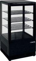 SARO Mini-Umluftkühlvitrine Modell SC 70 schwarz