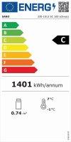 Umluftkühlvitrine Modell SC 100 schwarz