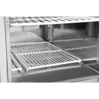Polar Thekenkühltisch mit Marmorarbeitsfläche 2türig 240Ltr