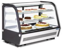Polar 160Ltr Umluft Kühlvitrine f Desserts Kuchen...