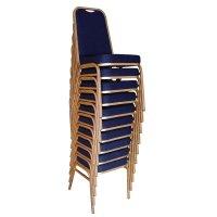Bolero Bankettstühle mit rechteckiger Lehne blau