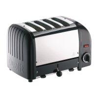 Dualit Toaster 4 Schlitzen Edelstahl+schwarz