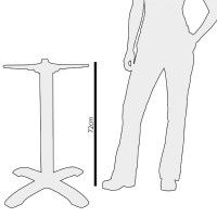 Bolero Tischfuß mit Fußkreuz Gusseisen 72cm hoch