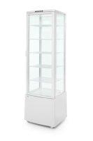 Kühlvitrine mit 5 Regalböden, 270 L, weiß
