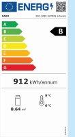 Kühlvitrine, 100 Liter Modell KATRIN schwarz, Maße: B 695 x T 462 x H 670
