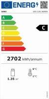 Kuchenvitrine, 300 Liter Modell JASMIN, Maße: B 915 x T 675 x H 1210