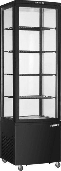 Kühlvitrine, 235 Liter Modell SVEN schwarz, Maße: B 515 x T 485 x H 1689