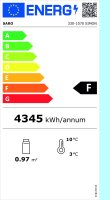 Kühlregal Modell SIMON, Maße: B 494 x T 674 x H 1742