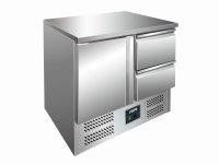 Kühltisch mit Schubladen Modell VIVIA S901 S/S TOP - 2 x 1/2 GN, Maße: B 900 x T 700 x H 870-890