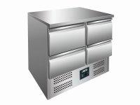 Kühltisch mit Schubladen Modell VIVIA S 901 S/S TOP - 4 x 1/2 GN, Maße: B 900 x T 700 x H 870-890