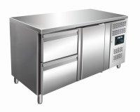 Kühltisch inkl. 2er Schubladenset Modell KYLJA 2110 TN, Maße: B 1360 x T 700 x H 890-950