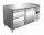 Kühltisch inkl. 3er Schubladenset Modell KYLJA 2130 TN, Maße: B 1360 x T 700 x H 890-950