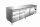 Kühltisch inkl. 2 x 3er Schubladenset Modell KYLJA 4150 TN, Maße: B 2230 x T 700 x H 890-950