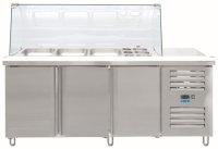Saladette mit Glasaufsatz Modell GN 3100 TNS, Maße:...