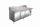 Belegstation, Granitarbeitsplatte - 1/3 GN Modell SH 2000, Maße: B 2000 x T 850 x H 1080-1140