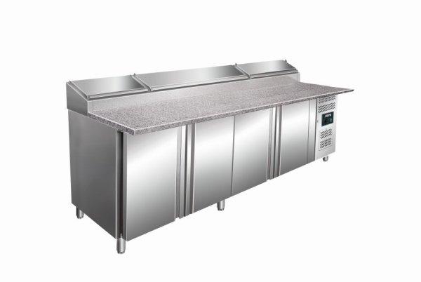 Belegstation, Granitarbeitsplatte - 1/3 GN Modell SH 2500, Maße: B 2500 x T 850 x H 1080-1140