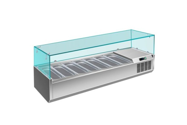 Kühlaufsatz - 1/3 GN Modell VRX 1800 / 380, Maße: B 1800 x T 395 x H 435