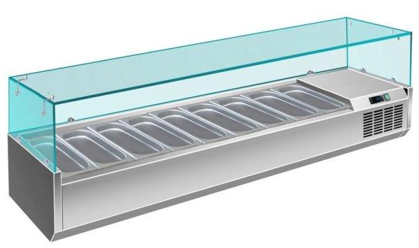 Kühlaufsatz - 1/3 GN Modell VRX 2000 / 380, Maße: B 2000 x T 395 x H 435