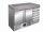 Pizzatisch mit Schubladen Modell PZ 9001, Maße: B 1420 x T 700 x H 1020