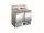 Pizzatisch mit Glasaufsatz Modell PS 200 G, Maße: B 900 x T 700 x H 1180