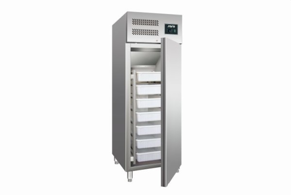 Fischkühlschrank mit Umluftventilator Modell GN 600 TN, Maße: B 680 x T 80 x H 2010