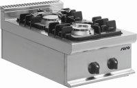 Gasherd Tischmodell E7/KUPG2BB, Maße: B 400 x T 700...