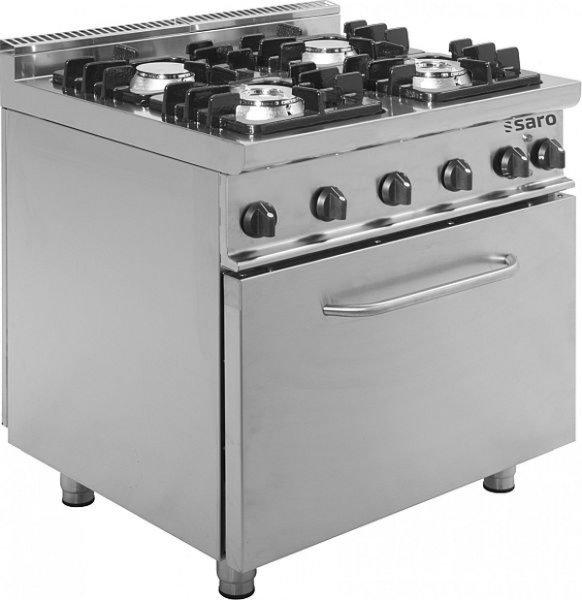 Gasherd mit Elektrobackofen Modell E7/KUPG4LE, Maße: B 800 x T 700 x H 850