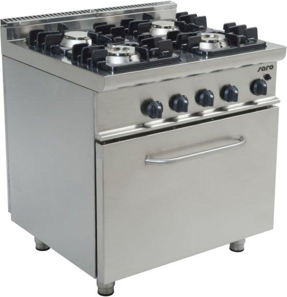 Gasherd mit Gasbackofen Modell E7/KUPG4LO, Maße: B 800 x T 700 x H 850