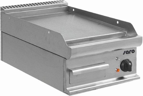 Elektro-Griddleplatte Tischmodell E7/KTE1BBL, Maße: B 400, Bratplatte: 395 x T 700, Bratplatte: 530 x H 270