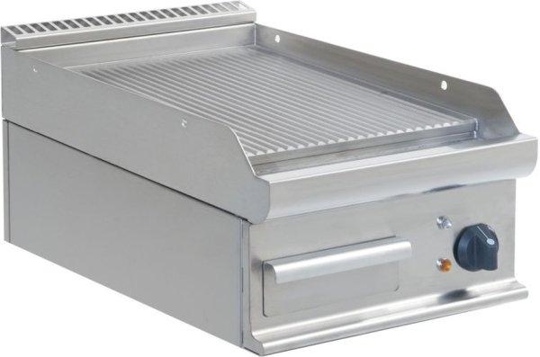 Elektro-Griddleplatte Tischmodell E7/KTE1BBR, Maße: B 400, Bratplatte: 395 x T 700, Bratplatte: 530 x H 270