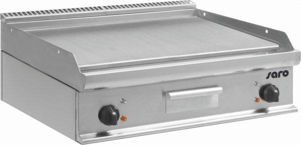 Elektro-Griddleplatte Tischmodell E7/KTE2BBL, Maße: B 800, Bratplatte: 795 x T 700, Bratplatte: 530 x H 270