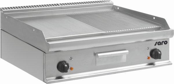 Elektro-Griddleplatte Tischmodell E7/KTE2BBM, Maße: B 800, Bratplatte: 795 x T 700, Bratplatte: 530 x H 270