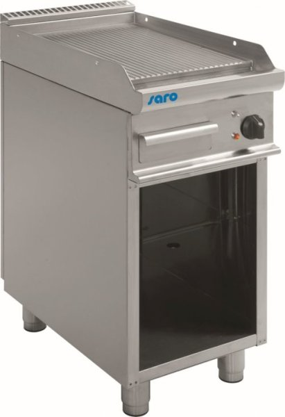 Elektro-Griddleplatte mit offenem Unterbau Modell E7/KTE1BAR, Maße: B 400, Bratplatte: 395 x T 700, Bratplatte: 530 x H 850
