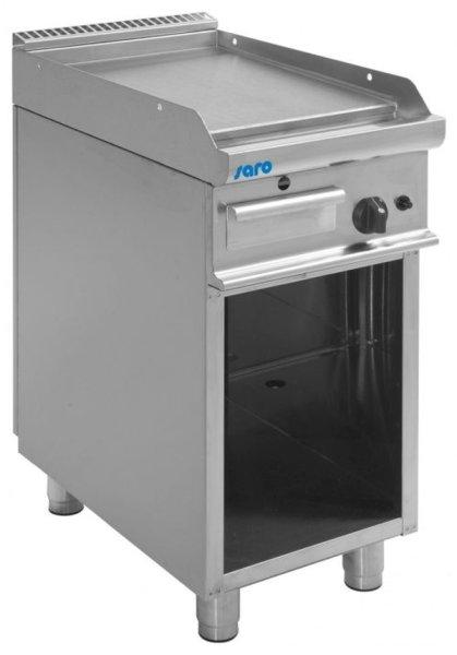 Gas-Griddleplatte mit offenem Unterbau Modell E7/KTG1BAL, Maße: B 400, Bratplatte: 395 x T 700, Bratplatte: 530 x H 850