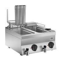 Elektro-Fritteuse 40cm, 10 Liter, 6kW, 400 x 650 x 295 mm