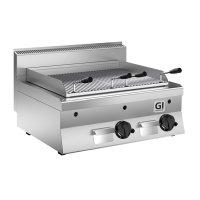 GI 650 HP Lavasteingrill mit Edelstahl-Gitterrost, 80cm