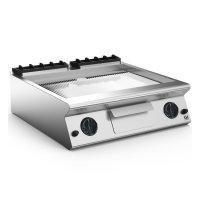 GI 700 HP gerippte verchromte Gasplatte, 80cm
