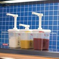 Araven 3 Soßenspender GN 1/9 Transparent 1,5L