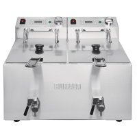 Buffalo Doppelfritteuse 2 x 8L 2,9kW mit Timer