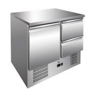 GI Edelstahl Kühltisch mit 1 Tür und 2...