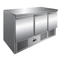 GI Edelstahl Kühltisch mit 3 Türen,...
